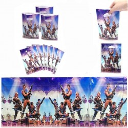 31 packs of Battle Royale party gift bags and plastic tablecloths Video game Battle Royale theme party decoration games birthday party supplies gifts and baby shower supplies