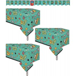 3 Pack Video Gaming Party Supplies Plastic Table Cover 54
