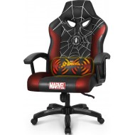 Marvel Avengers Gaming Chair Massage Office High Back Computer PU Leather Desk Chair PC Racing Executive Ergonomic Adjustable Swivel Task Chair Headrest and Lumbar Support (Spider Man, Black)